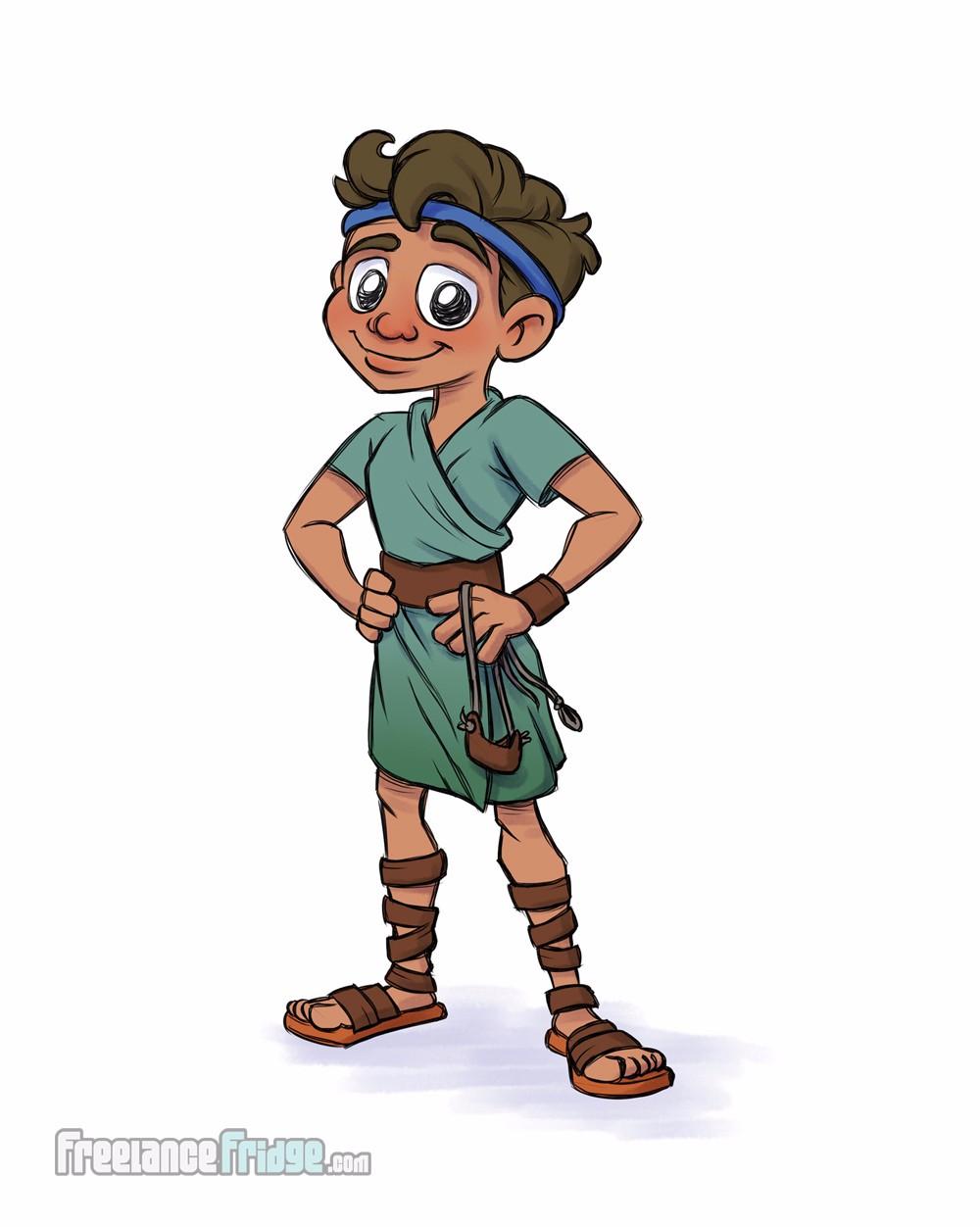 David and Goliath Children's Book Illustrations ...